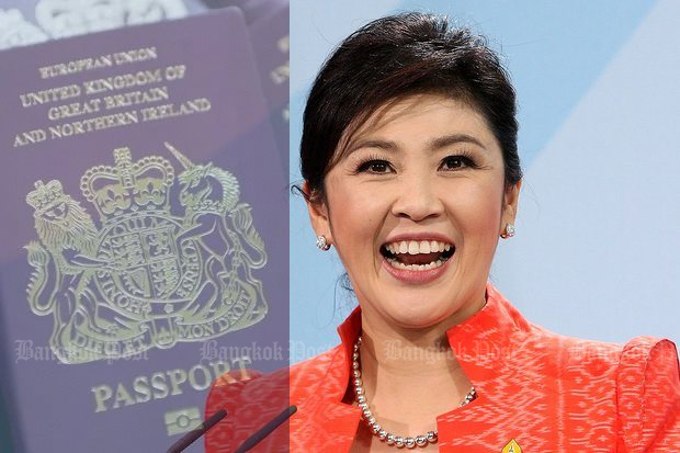 The latest completely unconfirmed report is that fugitive ex-premier Yingluck Shinawatra is living in London, and is carrying a British passport.