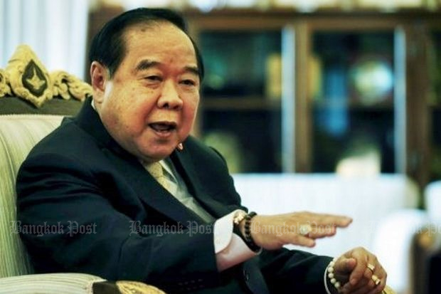 Deputy Prime Minister and Defence Minister Prawit Wongsuwon never has been shy about flashing his bling in public. (Bangkok Post file photo)