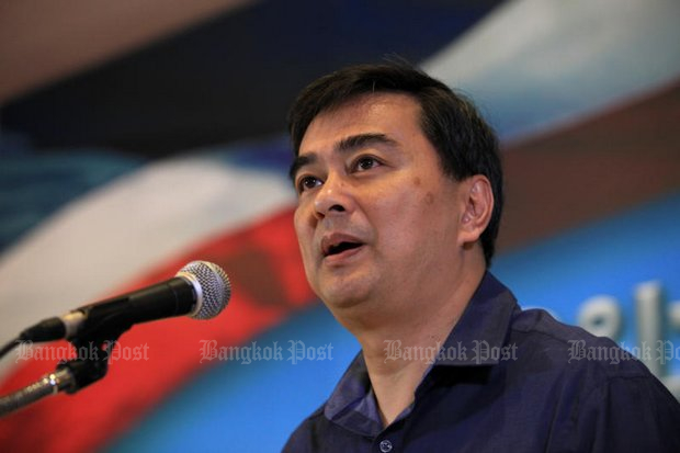 Former prime minister Abhisit Vejjajiva calls for a pushback against illiberal forces with programmes that show liberal and democratic values can provide sustainable, effective remedies to the most pressing issues. (File photo by Chanat Katanyu)