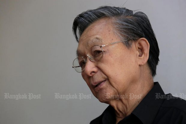 Ex-prime minister Chuan Leekpai, still an influential voice in the Democrat Party. (File photo by Chanat Katanyu)
