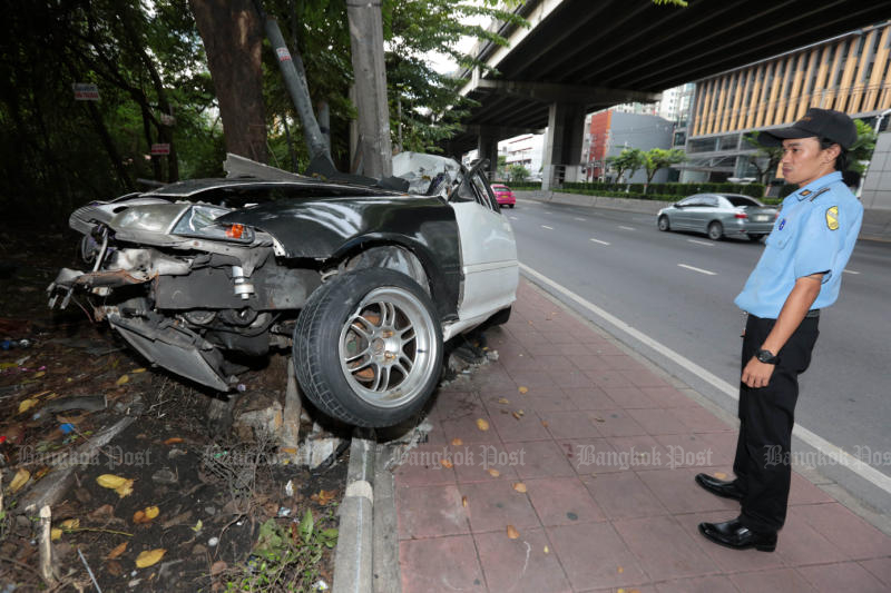 The road death rate in Thailand makes the country surpass other deadliest countries. (Photo by Chanat Katanyu)
