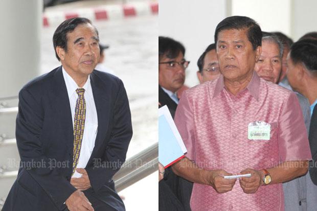 Parinya Nakchatri, left, and Wassana Permlarp (Bangkok Post file photo)