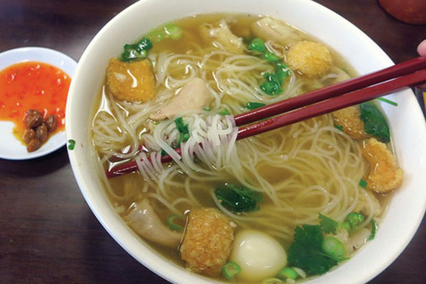 Phnom Penh kuyteav is the capital's version of a popular Cambodian noodle dish. (Supplied/Khmer Times photo)