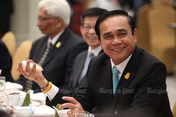 Prime Minister Prayut Chan-o-cha, who admitted on Wednesday he is 'a politician who used to be a soldier' will not commit to his political plans but is directing a pro-military effort to control policy following the election expected in November. (Post Today photo)