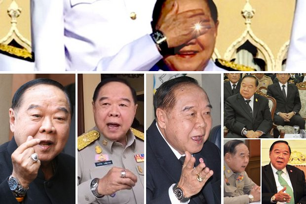 Since he was caught out while covering his eyes from the sun, Gen Prawit's known watch collection has been confirmed to include 16 wristwatches worth 21 million baht-plus.