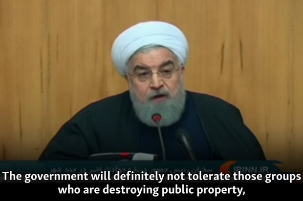 Shortly after protests began on Dec 28, President Hassan Rouhani warned a crackdown was likely. (File photo)