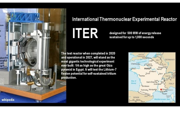 The International Thermonuclear Experimental Reactor (ITER) is an international nuclear fusion research and engineering megaproject, scheduled to become the  world's largest magnetic confinement plasma physics experiment. (Photo provided)