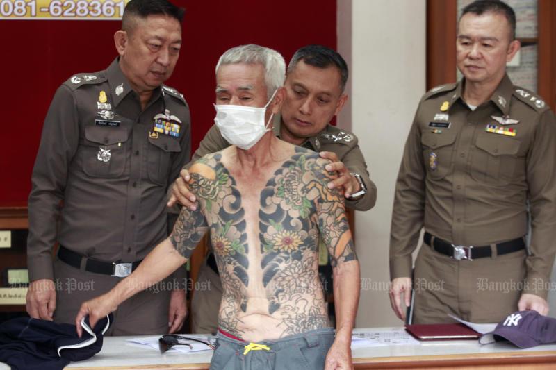 Fugitive Japanese yakuza boss arrested in Lop Buri