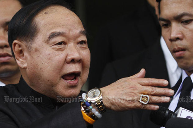 An unreleased Nida poll on the watches of Deputy Prime Minister Prawit Wongsuwon has led to the decision of Nida Poll director Arnond Sakworawich to resign. (Photo by Thanarak Khunton)