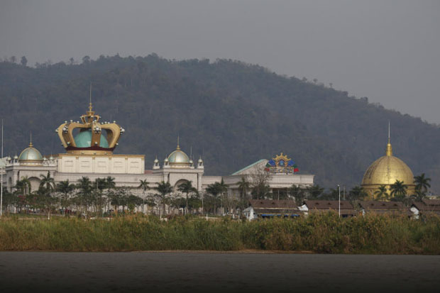 The Blue Shield casino operated by the Kings Romans Group stands in the Golden Triangle special economic zone on the banks of the Mekong river in Laos near the border between Laos, Myanmar and Thailand March 2, 2016. (Reuters file photo)