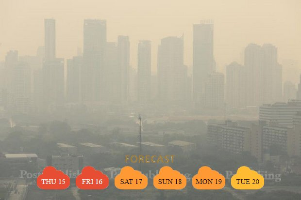 Many people will remember Valentine's 2018 as the day of the Big Haze. At midnight Wednesday, every Air Quality Index reading in the capital was above 160, well over the danger level. (Post Today photo)