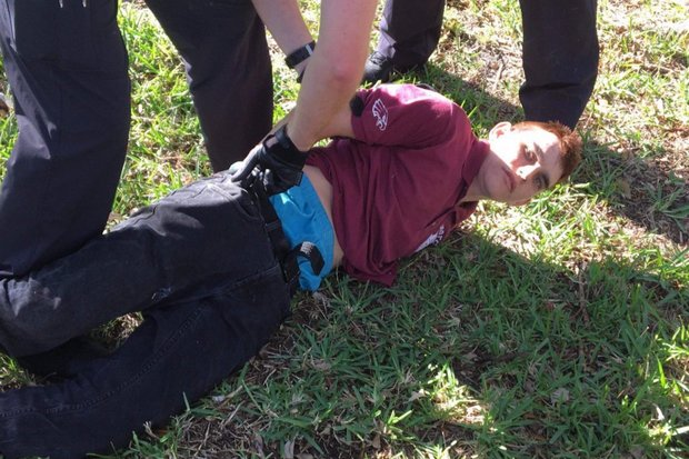 Nikolas Cruz was taken down and arrested 'without incident' within an hour of the shooting at the high school that expelled him for violent actions. (Photo sheriff's office)
