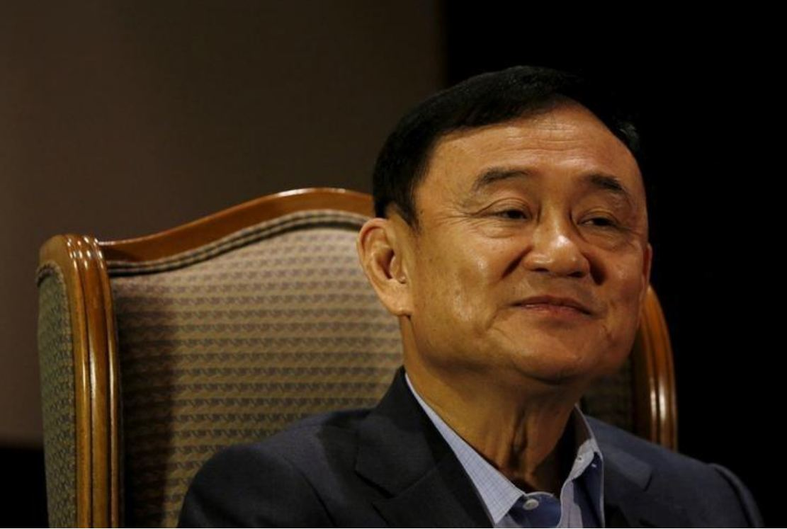 Former Thai Prime Minister Thaksin Shinawatra looks on as he speaks to Reuters during an interview in Singapore Feb 23, 2016. (Reuters file photo)