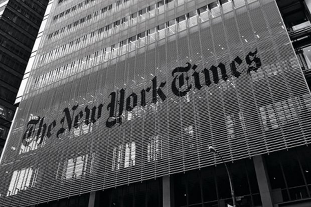 The New York Times has been gaining paid digital subscribers as it makes it harder to access free articles. (File photo)