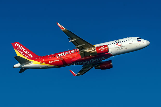 Thai Vietjet will use an A320 aircraft on the new route from Suvarnabhumi airport to Krabi. (Thai Vietjet photo)