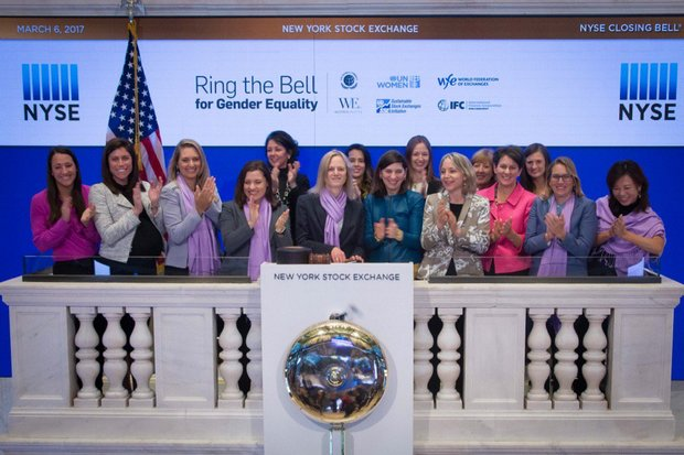Women 'Ring the Bell' to open the Nasdaq stock exchange in New York. (Photo UN.org)