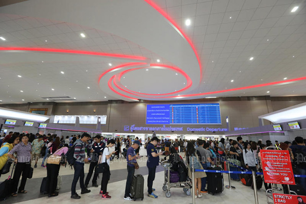 Don Mueang plans to upgrade an old terminal as part of the third-phase development plan for the airport. (Bangkok Post photo)