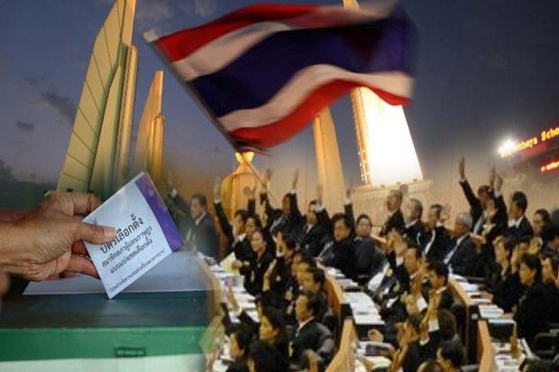 The Democracy Monument, parliament and the ballot box are the common symbols used by democrats, populist or not.