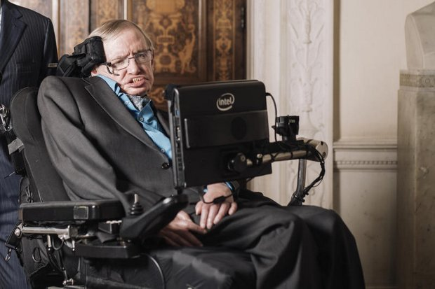 Hawking outlived the doctor's prediction of death by ALS at age 21 - by 55 years. But he was massively handicapped and had to speak through a voice synthesiser. (New York Times photo)