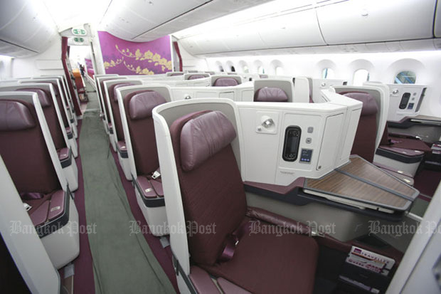 Thai Airways International added two Boeing 787-9 Dreamliners to its fleet in September last year. (Bangkok Post file photo)