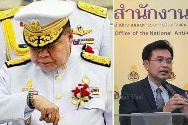 Secretary-general Worawit Sukboon says the National Anti-Corruption Commission (NACC) needs more time to investigate Gen Prawit's claim he borrowed 22 luxury watches from a friend who has died. (File photos)