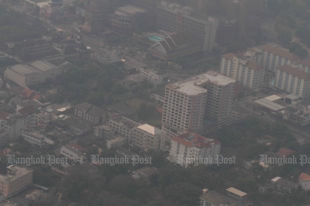 Seasonal crop burning is the main cause of heavy haze that blankets Chiang Mai every year. (Bangkok Post File Photo)