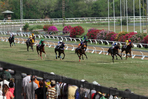 A horse race is organised at the Royal Turf Club in Dusit district, Bangkok. (File photo)
