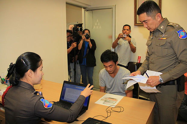Tourist bus driver Thanayot Buathong, 30, is charged with stealing money from Chinese passengers. (Photo by Sutthiwit Chayutworakan)