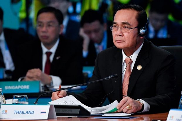At the recent Australia-Asean summit in Sydney in March, Prime Minister Prayut Chan-o-cha showed off two rings and a watch, but had no significant contribution to the meeting. (File photo)