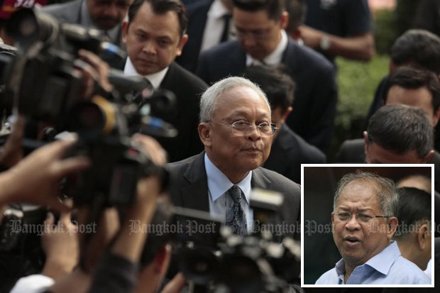 Thanee Thaugsuban (inset), younger brother of politician and protest leader Suthep, will register the new party on Friday. (Bangkok Post file photos)