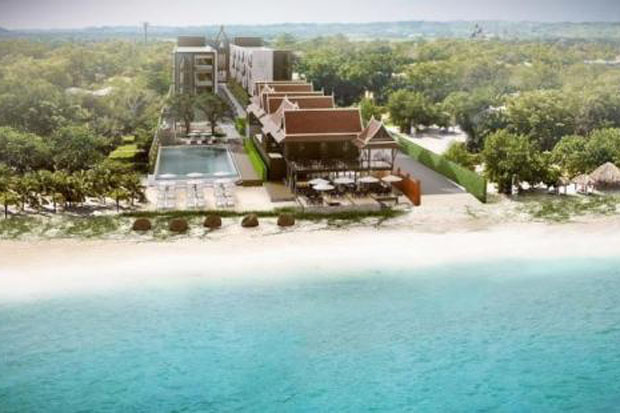 A rendering of Aksorn Rayong, Mida's first 'combination concept' facility, featuring a resort and wellness services. The company says the project will cost 1 billion baht.