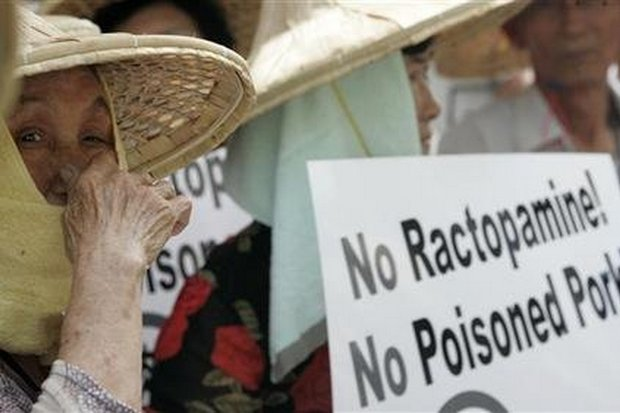 Thai farmers support the government ban on the use of ractopamine, and US hog farmers reportedly want retaliation. (File photo)