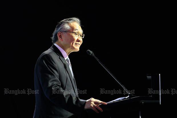 Foreign Minister Don Pramudwinai speaks at a seminar in Bangkok last November. (Bangkok Post file photo)