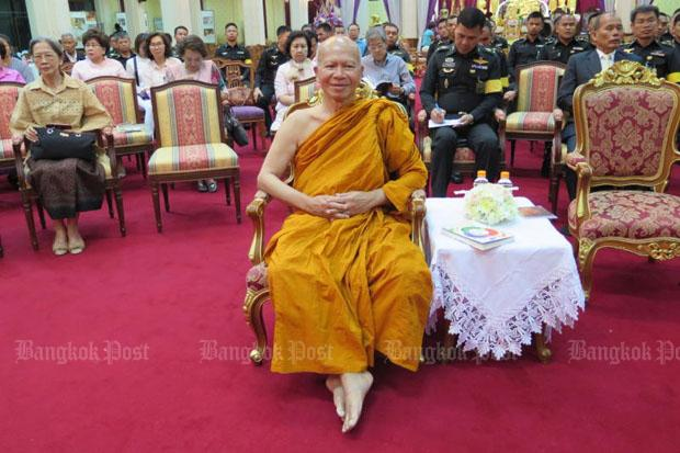 Phra Phrom Methee, then assistant abbot of Wat Samphanthawong, attends a ceremony at his temple in Bangkok in 2016. (File photo by Samarn Sudto)