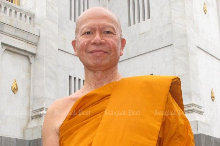 Phra Phrom Methee reportedly fled Wat Sa Ket (the Golden Mount) just before the police raid last week, and wound up in Germany via Laos, Cambodia, Vietnam and Qatar. (File photo)