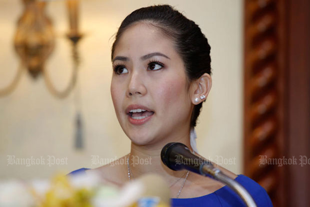 Chitpas Kridakorn, a Singha beer heiress, is seeking help from the Justice Fund to place money for bail surety. (Bangkok Post file photo)
