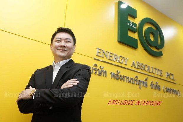 Amorn Sapthaweekul, deputy CEO of Energy Absolute, says the company is going to put 100 billion baht worth into a 50-gigawatt facility.