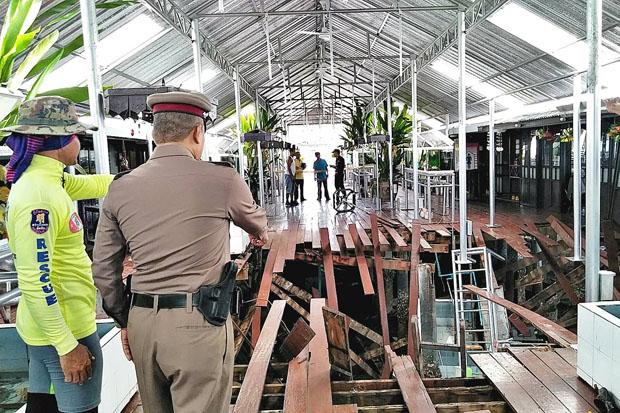 Seaside restaurant floor collapses, 29