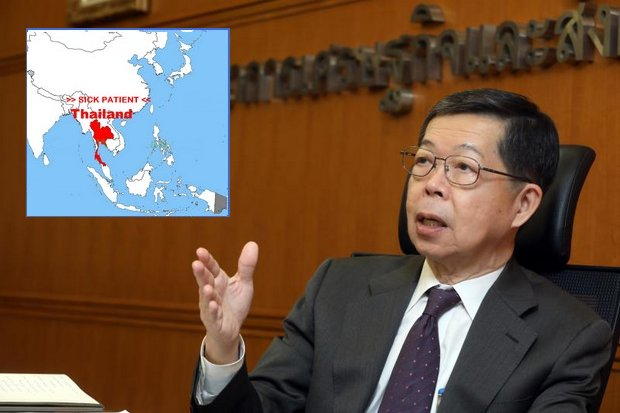 Prasarn Trairatvorakul: The former governor of the Bank of Thailand fingers three issues that prevent Thailand from meeting its own economic potential. (File photo)