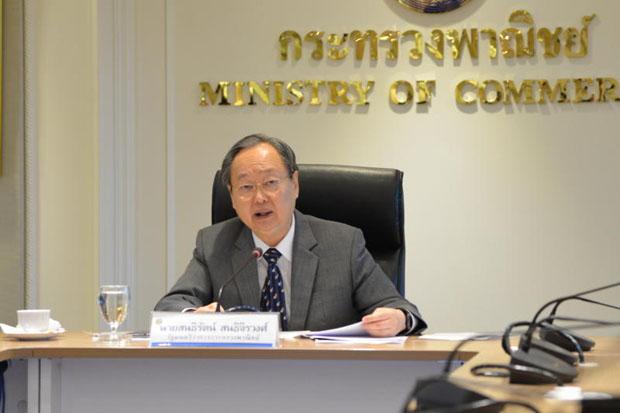 Commerce Minister Sontirat Sontijirawong