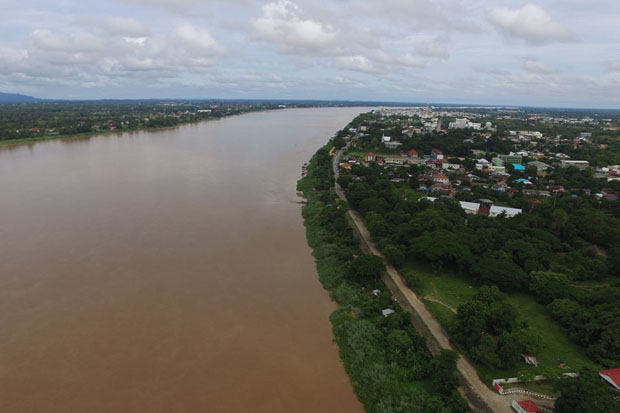The Mekong River in Nakhon Phanom Thursday (photo by Pattanapong Seepiachai)