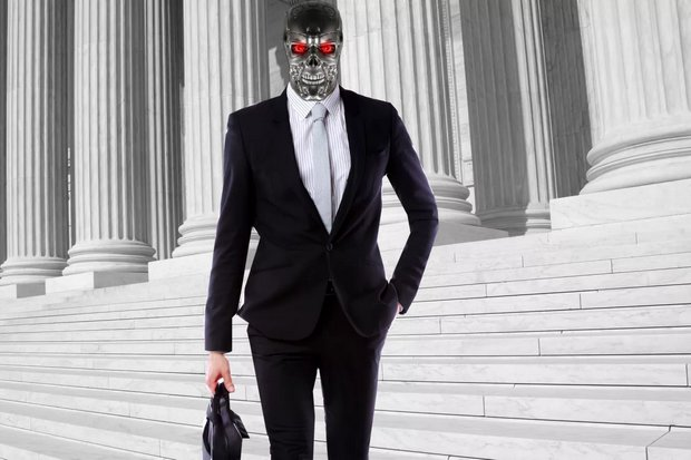 AI-powered Robo-Lawyer already performs several legal tasks. (Image courtesy fusion.net.)