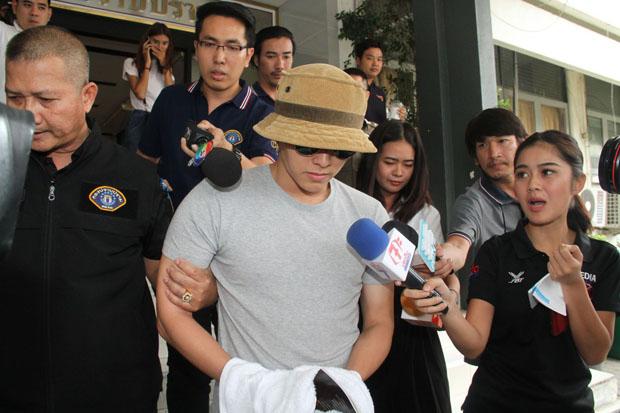 Police bring actor Jiratpisit