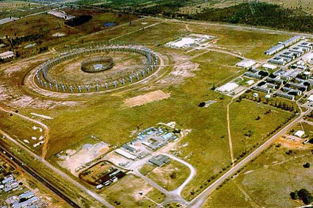 The Ramasun base's great circular 'fence' visible from the Friendship Highway (lower left) is actually part of a massive Wullenweber aerial (antenna) array that allowed US National Security Agency (NSA) spies and language experts to listen in on Vietnamese and Chinese military radio traffic in the Vietnam war era. (Photo via US Army)