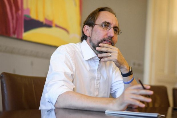United Nations High Commissioner for Human Rights Zeid Ra'ad Al Hussein is due to step down from his post as UN High Commissioner for Human Rights at the end of the week. (AFP photo)