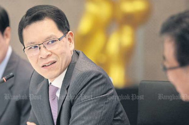 Bank of Thailand governor Veerathai Santiprabhob is pleased with the current benchmark interest rate of 1.5% that has been in effect since April of 2015. (File photo)