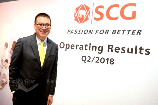 He's smiling on the outside but Siam Cement Group president and CEO Roongrote Rangsiyopash notes: 'The staff must change their mindset to accept the digital era'.