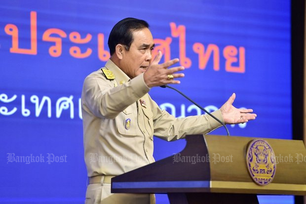 Gen Prayut and his military regime have put in their labour for four years, and put nefarious plans in place for the next 20. (Bangkok Post file photo)