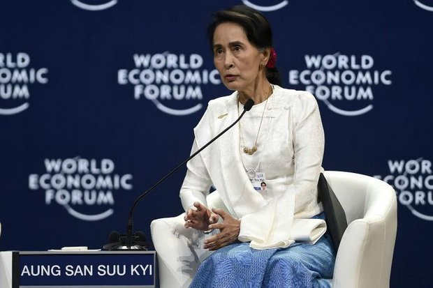 Myanmar leader and State Counsellor Aung San Suu Kyi said the Rohingya ethnic cleansing 'could have been handled better' but robustly defended the imprisonment of two journalists for reporting on the military violence of the crisis. She was attending the World Economic Forum on Asean at the National Convention Center in Hanoi on Thursday. (AFP photo)