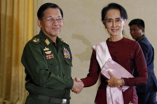 The UN report recommended genocide charges against Myanmar army commander Aung Hlaing Min and had harsh criticism of 'partner in genocide' Myanmar leader Aung San Suu Kyi for failing to stop him. (File photo)